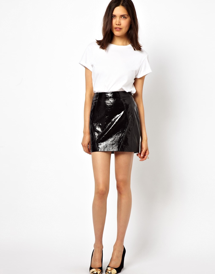 Urbancode Patent Leather Mini Skirt | Where to buy & how to wear