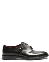 Givenchy Cross Monk Strap Leather Shoes