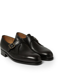 Jm weston 531 leather monk strap shoes medium 224259