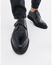 Truffle Collection Monk Shoe In Black