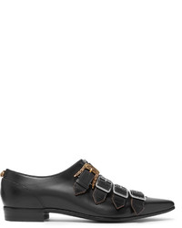 Gucci Quebec Leather Monk Strap Shoes