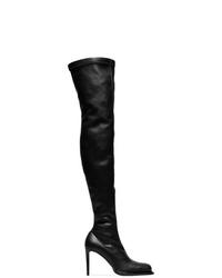 Stella McCartney Black 105 Faux Leather Otk Sock Boots