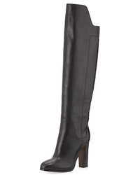 Vince Dempsey Leather Over The Knee Boot Black