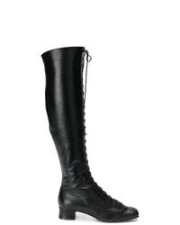 L'Autre Chose Lace Up Over The Knee Boots
