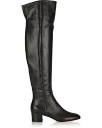 Gianvito Rossi Leather Over The Knee Boots Black