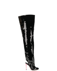 Natasha Zinko Open Heel Thigh Boots