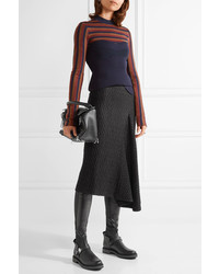 54c7730cada ... Fendi Quilted Stretch Leather Over The Knee Boots Black ...