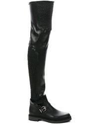 Fendi Smocked Thigh High Boots