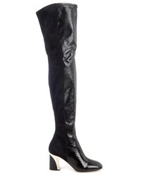 Proenza Schouler Suede And Leather Over The Knee Boots