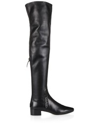 Francesco Russo Woven Detail Nappa Leather Over The Knee Boots