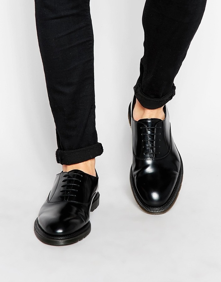 Sale 2018 Unisex Free Shipping Largest Supplier Henley Oxford Shoes - Black Dr. Martens ck32dhbUf