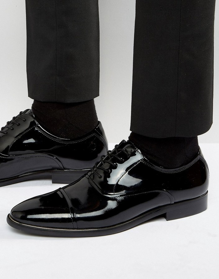 1498fd053436b £96, Aldo Gaville Patent Leather Oxford Shoes