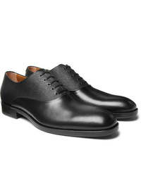 Hugo Boss Stanford Smooth And Textured Leather Oxford Shoes
