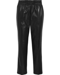 Black Leather Pajama Pants
