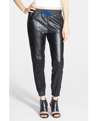 Blank NYC Blanknyc Face Lift Faux Leather Track Pants