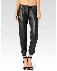 Paige Jadyn Pant Black Leather