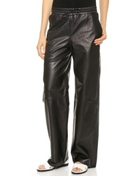 Alexander Wang T By Leather Palazzo Track Pants