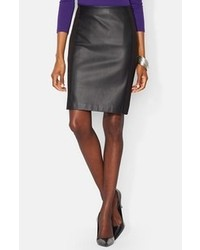 Lauren Ralph Lauren Faux Leather Panel Pencil Skirt