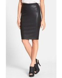 Eileen Fisher Leather Front Pencil Skirt