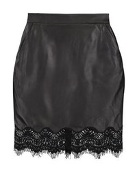 Leather skirt black medium 3935644