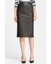 Burberry London Leather Pencil Skirt