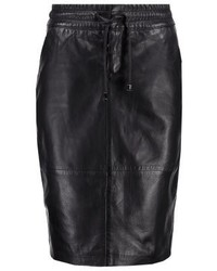 Sky leather skirt black medium 3935649