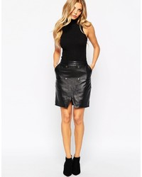 Yas Joanna Skirt In Leather