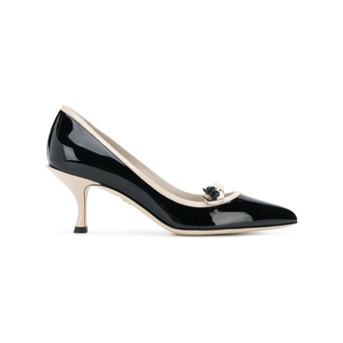 Dolce & Gabbana Bulldog Appliqu Pumps