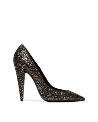 Saint Laurent Era 100 Glitter Pumps