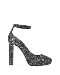Saint Laurent Glitter Platform Pumps