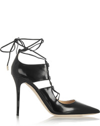Jimmy Choo Hoops Patent Leather Pumps Black