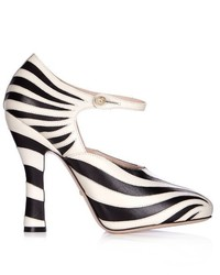 Gucci Lesley Zebra Appliqu Leather Pumps
