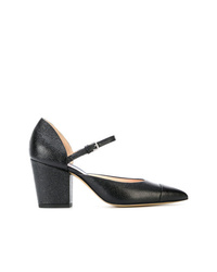 Thom Browne Mid Block Dorsay Heel In Pebble Leather