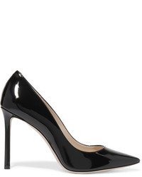 Jimmy Choo Romy 100 Patent Leather Pumps Black