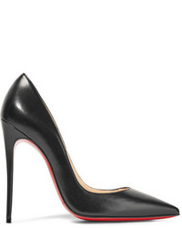 Christian Louboutin So Kate 120 Leather Pumps Black