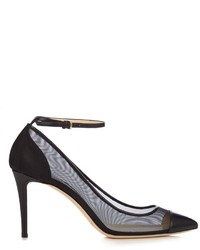 Tower 85mm leather and mesh pumps medium 959802