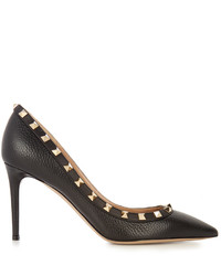 Valentino Rockstud Point Toe Leather Pumps