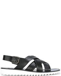 Dolce & Gabbana Cross Over Strap Sandals