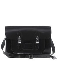 Black Leather Satchel Bag