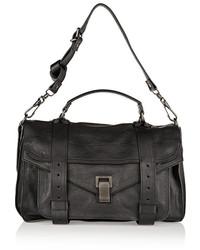 Proenza Schouler The Ps1 Medium Leather Satchel Black