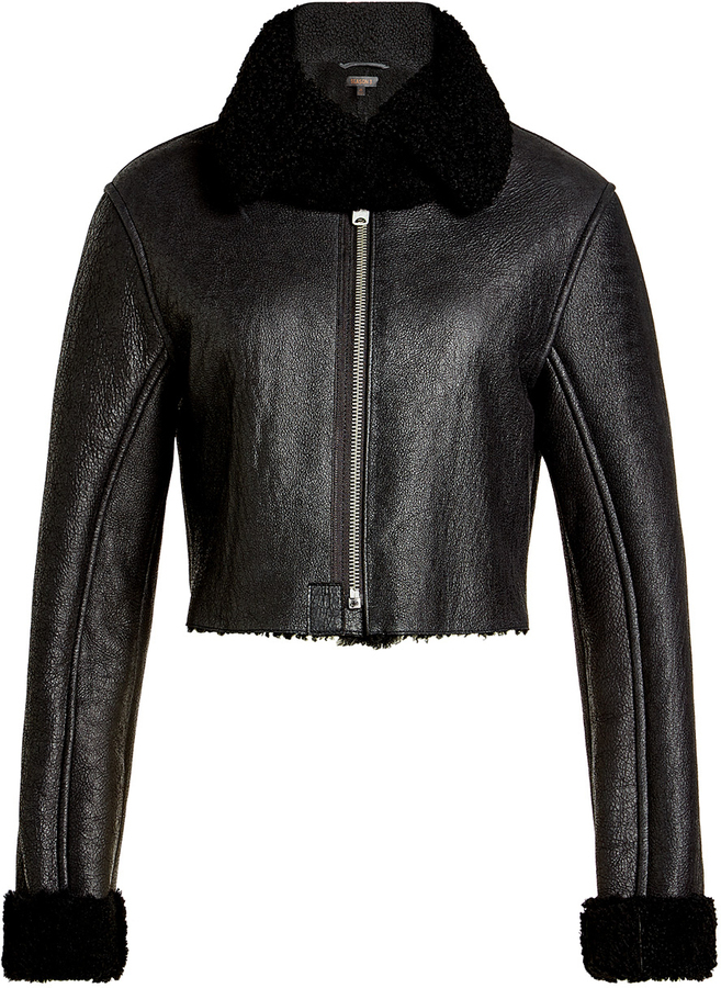 Yeezy Leather Jacket Wth Shearling