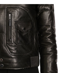 Polo Ralph Lauren Shearling Trim Leather Jacket
