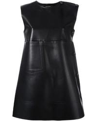 Cédric Charlier Leather Effect Shift Dress