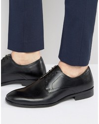 Red Tape Lace Up Smart Shoes In Black Leather
