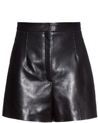 Balenciaga High Waist Leather Shorts