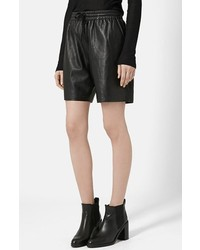 Topshop Boutique Lambskin Leather Shorts