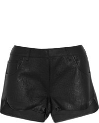 Lot 78 Lot78 Textured Leather Shorts