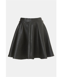 Topshop Andie Faux Leather Skater Skirt