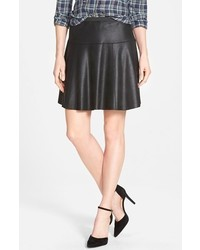 Karen Kane Faux Leather Skater Skirt