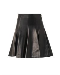 Versace High Waisted Leather Skirt